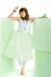 Snap Green with stacks of biodegradable bubble wrap
