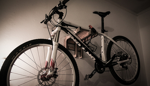 Mount Your Bike in Your Tiny Apartment (Photo by mrbichel)