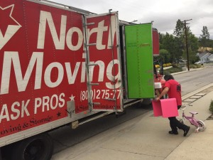NorthStar Moving picking up donations