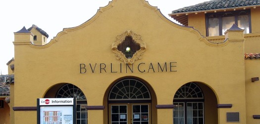 Burlingame Railroad Station by Sanfranman59 via CC BY-SA 3.0