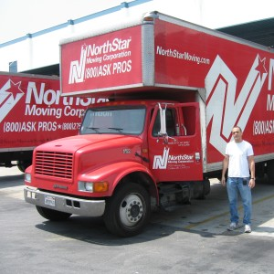 Ram Katalan and NorthStar Moving trucks.