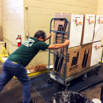 Delivering food drive donations to the Los Angeles Food Bank