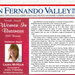 "Laura McHolm won the ""Trailblazer Award"" for the 2008 Women In Business Awards by the San Fernando Valley Business Journal."