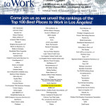 Los Angeles Business Journal's announcement for the Best Places to Work 2013 Awards