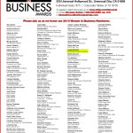 The nominees for the 2013 Women in Business Awards