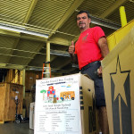 Annual food drive in the NorthStar Moving warehouse
