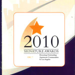Cover of the program from the award event!
