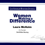 The Woman Making a Difference Certificate
