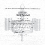 Certified Franchise Executive (CFE) 2017