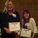 Laura McHolm and Claire Wineland holding their certificates at the event!