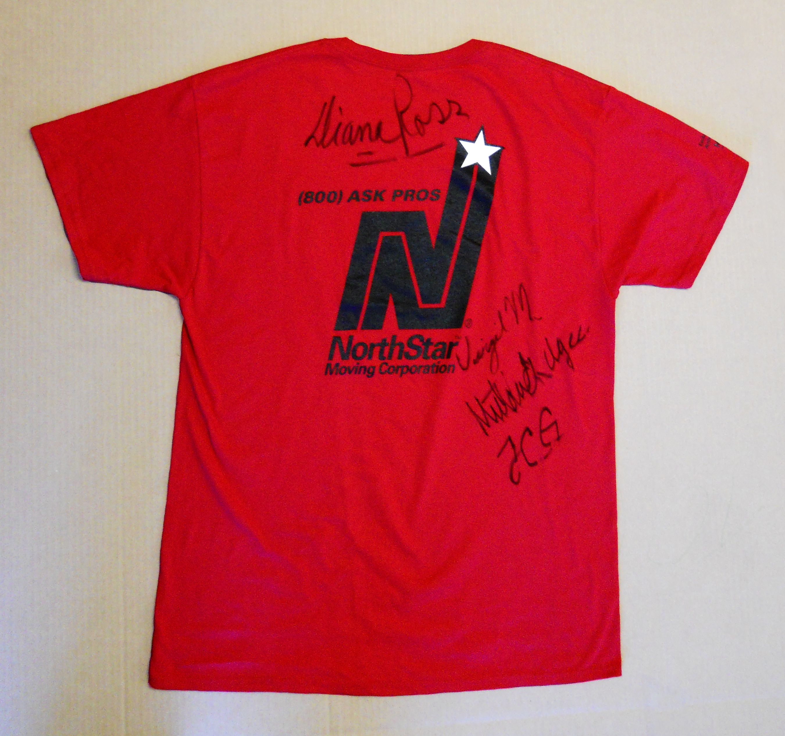 Diana Ross autographed shirt
