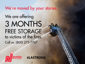 NorthStar Moving Free storage offer to Woolsey fire victims 2016