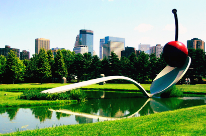 Giant Cherry and Spoon in Minneapolis