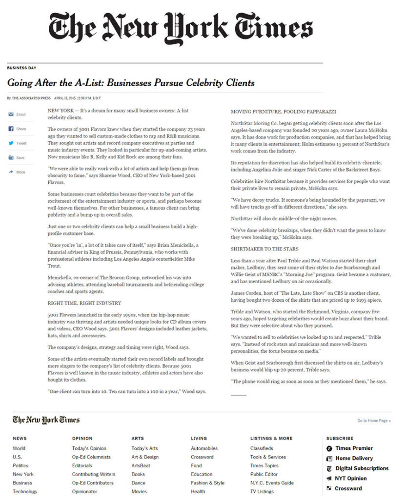 Going After the A list - NY Times - Apr152015