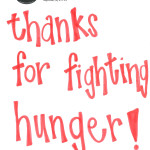 Thank you letter from Move For Hunger