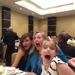 NorthStar Moving's co-founder and director of marketing, Laura McHolm and Claire Wineland of Claire's Place Foundation, Inc. at the Los Angeles Business Journal's 2014 Nonprofit and Corporate Citizenship Awards luncheon