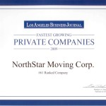 Los Angeles Business Journal Fastest Growing Private Companies Award 2009