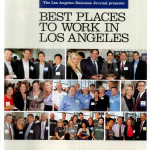 The Best Places to Work article cover in the Los Angeles Business Journal