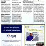 A page from The Best Places to Work article from the Los Angeles business Journal