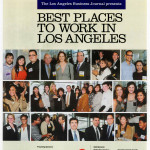 The Cover of The Best Places To Work Award article in the Los Angeles Business Journal.