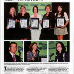 A page from the article about the award in the Los Angeles Business Journal