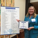 NorthStar Moving's co-founder and director of marketing, Laura McHolm at the Los Angeles Business Journal's 2014 Nonprofit and Corporate Citizenship Awards