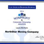 Laura McHolm's Nomination Certificate for 2014 Nonprofit and Corporate Citizenship Awards