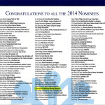 List of Nominees for 2014 Non-Profit and Corporate Citizenship Awards