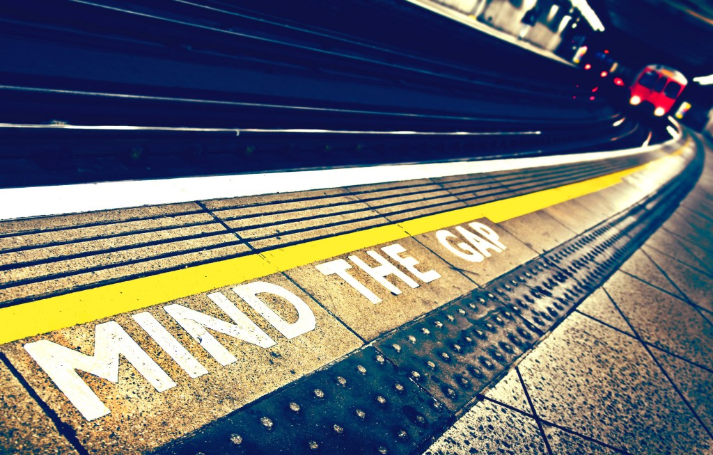 Mind the Gap in the London Underground