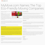 MyMove.com names NorthStar Moving Company as one of the Top Eco-friendly Moving Companies.