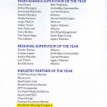 List of nominees for 2013 Signature Awards for Industry Partner of the Year.