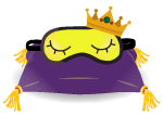 sleep mask on a royal pillow