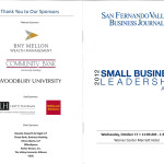 Program Cover from the Small Business Leadership Awards event.