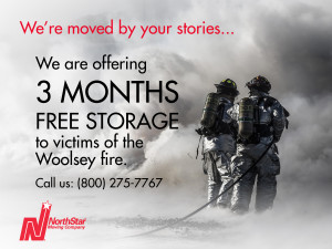 NorthStar Moving Free storage offer to Woolsey fire victims