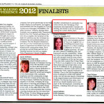 The finalists in the Los Angeles Business Journal