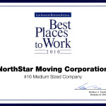 The Award for The Best Places To Work from the Los Angeles Business Journal.