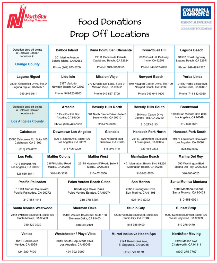 donation drop off locations