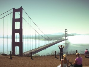 Golden Gate Bridge- Watching the View: Photo by Flickr user-  D.L.