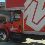 NorthStar Moving truck at a new home
