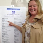 Laura McHolm at the Award Reception, proud to be on the list!