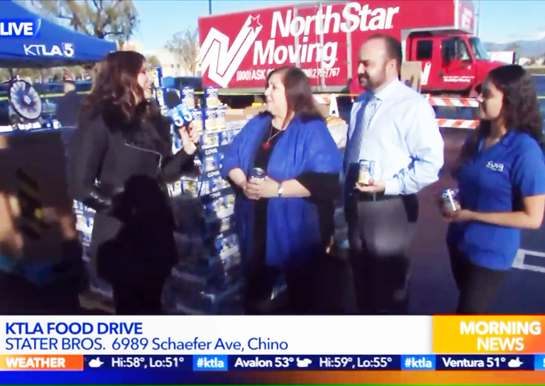 KTLA Food Drive at Stater Bros.