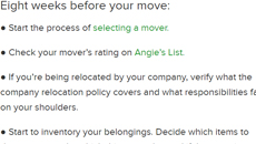 8 Week Out: Checklist Helps Manage Your Move