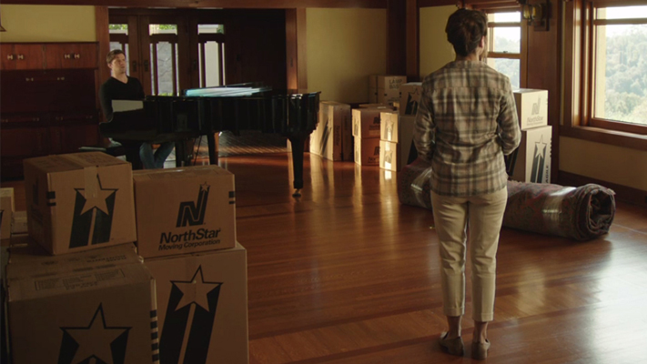 "NorthStar Moving Company Boxes in The Romanoffs Season 1, Episode 5, ""Bright and High Circle"" (2018)"