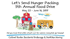 Help Coldwell Banker and NorthStar Moving Send Hunger Packing