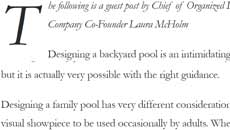 The Art of Designing A Family Pool