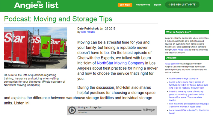 Podcast: Moving and Storage Tips