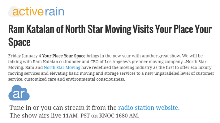 Ram Katalan of NorthStar Moving Visits Your Place Your Space