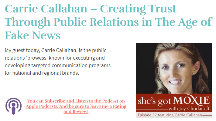 Carrie Callahan – Creating Trust Through Public Relations in The Age of Fake News